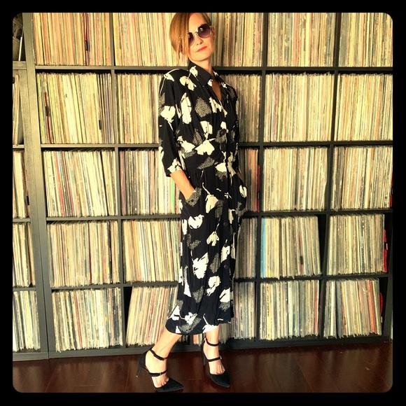 Vintage Dresses & Skirts - Vintage 40s 80s Dress with Pockets XS